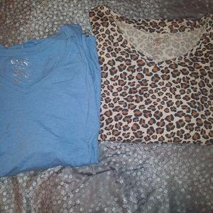 2 long sleeved shirts 4x